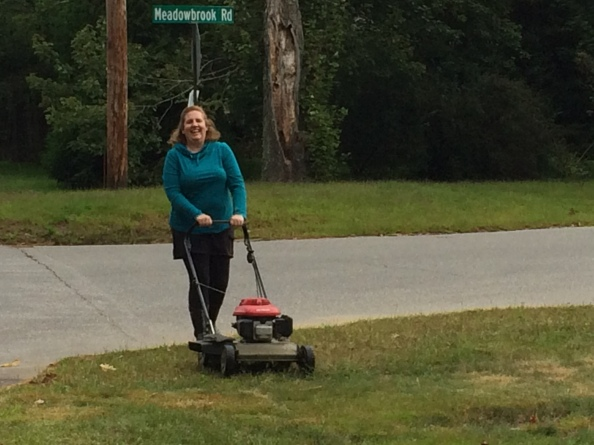 julie mowing